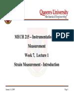 Strain Measurements Introduction
