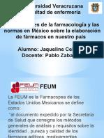 Bases Legales de La Farmacología y Las Normas en México Sobre La Elaboración de Fármacos