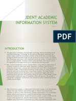 Student Academic Information System