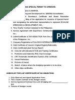 SP Checklist