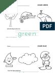 Kindergarten Colours Worksheet