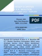 Presentasi Kajian Resep Di Apotek k24