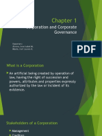 Corporation and Corporate Governance