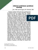 Primer on Clinical Acid-Base Problem Solving - DisAMon 2004