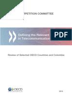 Defining Relevant Market in Telecommunications Web