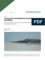 La Guerra Fría Con Bombarderos Rusos Llega Esta Vez Hasta Bilbao _ Internacional _ EL PAÍS
