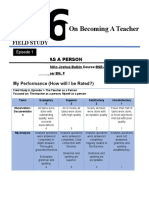 Activity 1 the Teacher as a Person