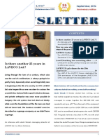 LAVECO Newsletter 2016/2. - Is there another 25 years in LAVECO Ltd.?
