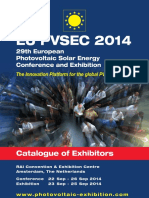 EU PVSEC 2014 Catalogue of Exhibitors