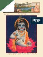 Sri Vrindavana Dhama Newsletter 2.2 (1994)
