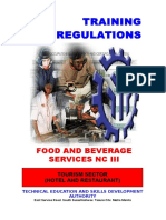 TR Food and Beverage Services NC III