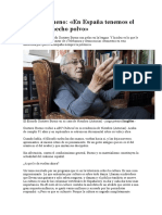 Gustavo Bueno. en España Tenemos El Cerebro Hecho Polvo