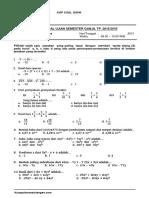 Soal Uts Matematika Kelas 7 Semester 1