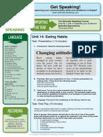 SPEAKING Eating Habits