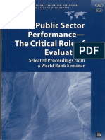 8 WB Public Sector Book Performance Evaluation World Bank