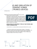 Modeling and Simulation of Differrent Power Electronics Applications