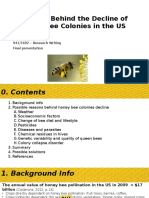 RESEARCHWRITING-Reasons Behind the Decline of Honey Bee Colonies