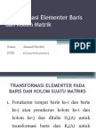 Transformasi Elementer Baris Dan Kolom Matrik