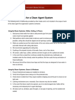 Constructing a Room for Clean Agent System