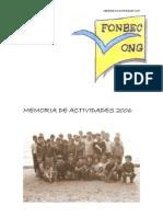 MEMORIA DE ACTIVIDADES FONBEC-2006