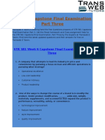 STR 581 Capstone Final Examination Part 3 Answers Free - Transweb E Tutors