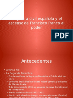 La Guerra Civil Española y El Ascenso De