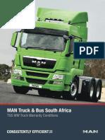 Man Hb Bus & Tgs Truck Warranty Brochure