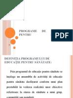 Programe de Educație Pentru Sănătate