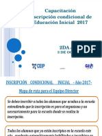 Capacitación inscripciones condicionales inicial 2016