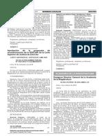 Aprobación de la propuesta de reconformación de la ODECMA de la Corte Superior de Justicia de Lima Sur