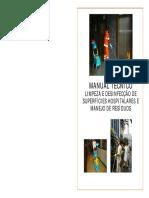 MANUAL TÉCNICO DE LIMPEZA E DESINFECÇÃO DE SUPERFÍCIES HOSPITALARES E MANEJO DE RESÍDUOS.pdf