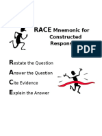 race graphic organizer