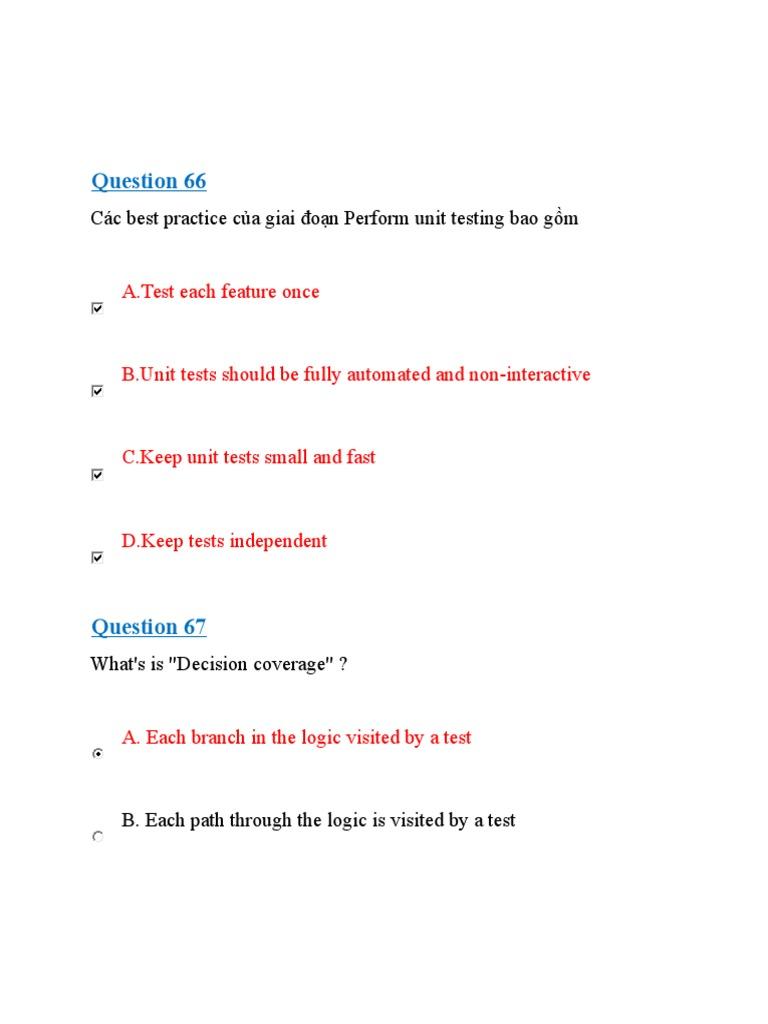 C unit testing best practices