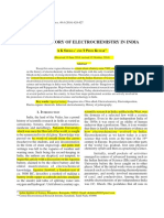 Electrochemistry In India