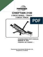 Manual Componentes Powerscreen Chieftain 2100