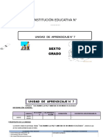UNIDAD DE APRENDIZAJE 6° ED. PRIMARIA MES DE SEPTIEMBRE 2016