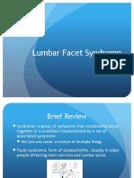 lumbar facet syndrome
