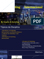 Marketing Internacional - Pesquisa - Aula 5