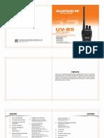 Baofeng UV-B5 user manual