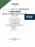 1865_Passage Du Traité de La Musique d'Aristide Quintilien Relatif Au Nombre Nuptial