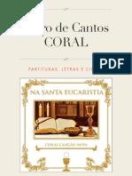 Livro de Cantos Na Santa Eucaristia Coral