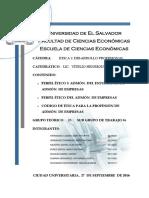 Trabajo de Etica y Desarrollo Profesional - Ciclo 2016