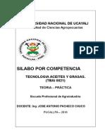 Silabus Aceites y Grasas Por Competencias 2016