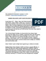 Haber Releases Anti-Gun Violence Platform