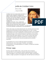 Biografía de Cristóbal Colon