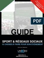Guide de la promotion d'évènements sportifs sur les réseaux sociaux