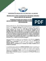 PSCyT- Orientaciones, Programa y Bibliografía