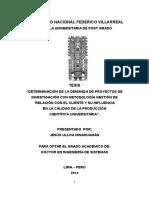 Proyectos de Investigación Tesis Doctoral Sistemas