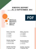 Morning Report 22 SEPTEMBER 2016