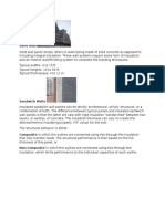 Types of Pre-cast Wall Panel